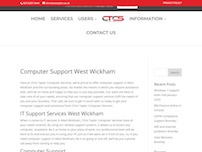 Computer Support West Wickham | Chris Taylor Computer Services